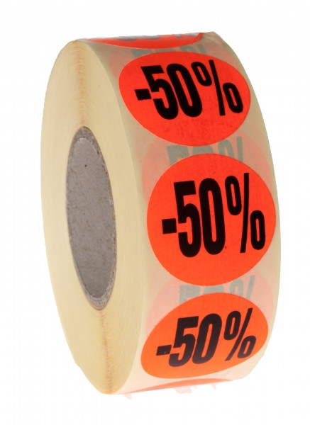Aktionsetiketten -50%