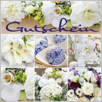 "Gutschein-Klappkarte ""Orchideen Collage"""